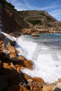 Cliff wave water javea cloud.