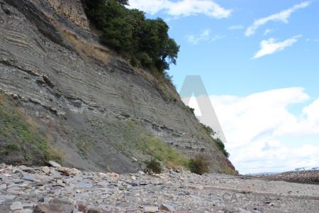 Cliff white rock.