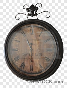 Clock cut out transparent.