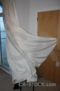 Cloth object brown curtain.