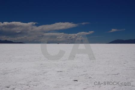 Cloud altitude argentina salt flat salinas grandes.
