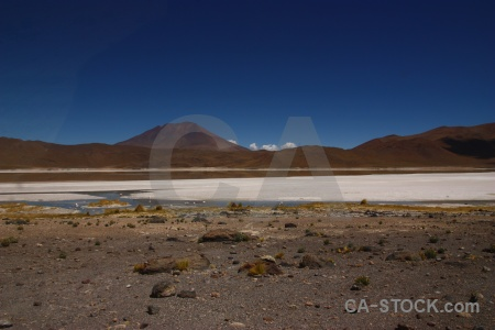 Cloud altitude bolivia salt lake mountain.