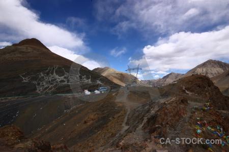 Cloud altitude desert tibet china.
