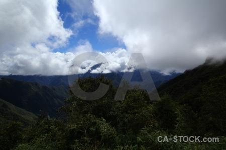 Cloud andes inca sky trail.
