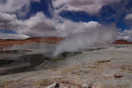 Cloud andes rock steam bolivia.