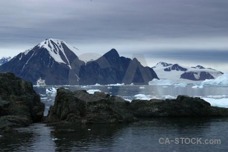 Cloud antarctica akademik ioffe iceberg debenham islands.