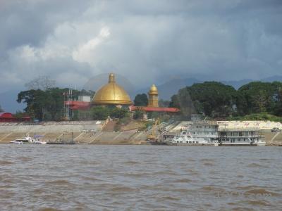 Cloud asia southeast water mekong river.