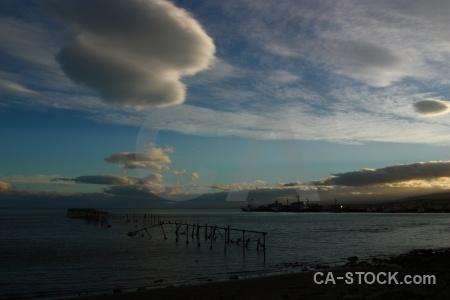 Cloud beach punta arenas water sea.