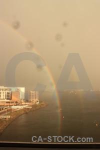 Cloud brown sky rainbow.
