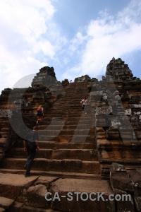 Cloud buddhist temple ta keo sky.