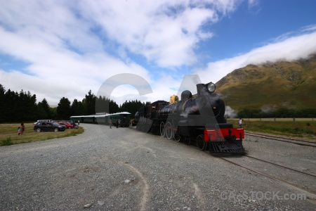 Cloud carriage south island railway steam.