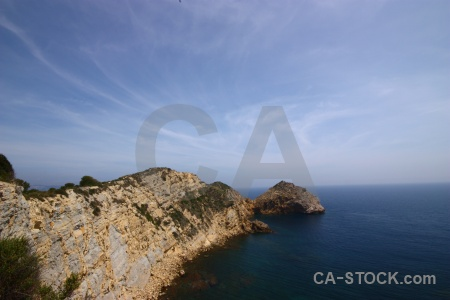 Cloud cliff sky javea nature.