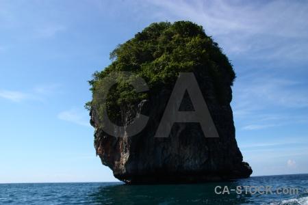 Cloud cliff southeast asia rock water.