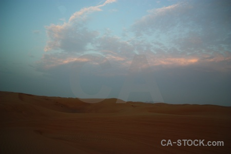 Cloud desert dune uae western asia.