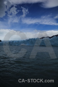 Cloud glacier ice water lago argentino.