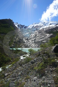 Cloud glacier water river sky.