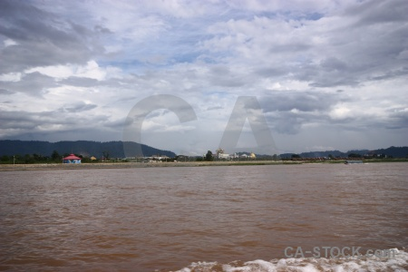 Cloud golden triangle thailand mekong river water.