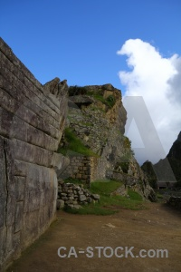 Cloud grass stone andes machu picchu.