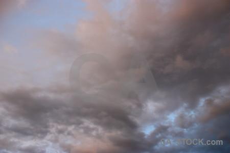 Cloud gray sky.