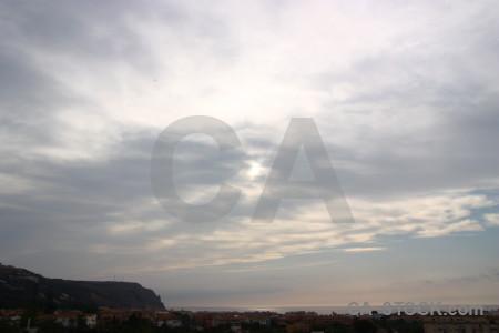 Cloud gray white sky.