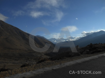 Cloud himalayan mountain asia friendship highway.