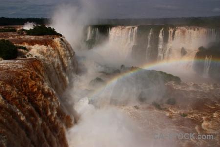 Cloud iguazu falls iguacu rainbow water.