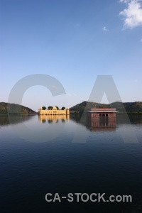 Cloud jal mahal india lake south asia.
