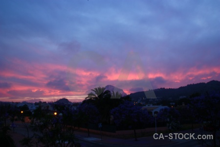 Cloud javea sky sunrise sunset.