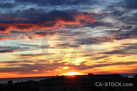 Cloud javea spain sunrise blue.