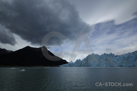 Cloud lake argentino ice argentina mountain.