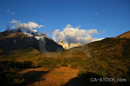 Cloud landscape mountain snowcap chile.