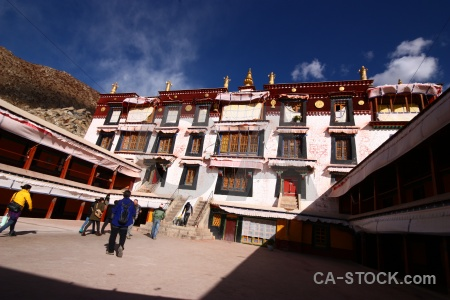 Cloud lhasa china building monastery.