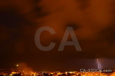 Cloud lightning javea spain night.