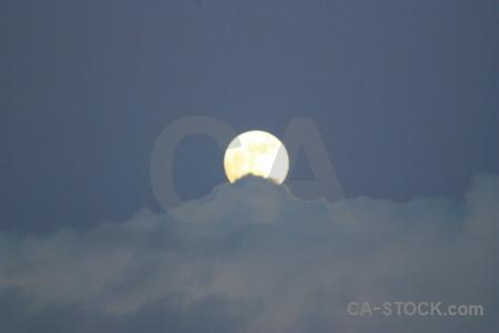 Cloud moon.