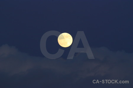 Cloud moon blue.