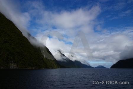 Cloud new zealand doubtful sound fiord sky.