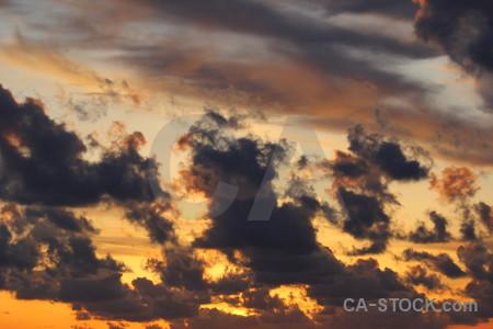 Cloud orange spain sunset javea.