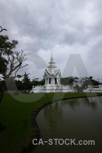 Cloud ornate chiang rai tree wat rong khun.
