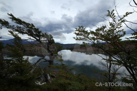 Cloud patagonia lake reflection south america.