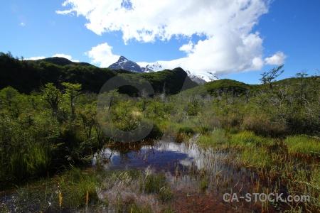 Cloud patagonia water snowcap landscape.