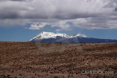 Cloud peru grass landscape snowcap.