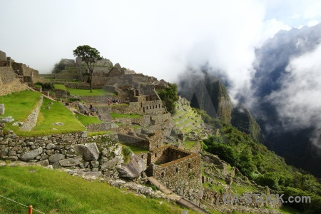 Cloud peru machu picchu terrace andes.