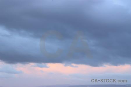 Cloud pink sky.