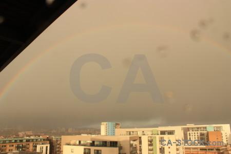 Cloud rainbow sky.