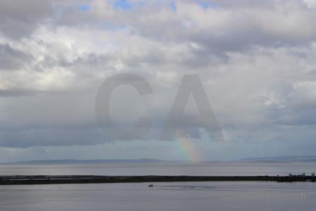 Cloud rainbow sky gray.