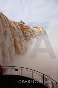 Cloud river south america railing spray.