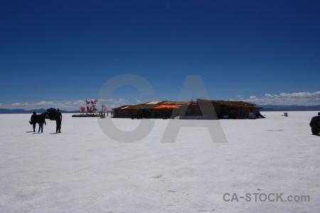 Cloud salar de uyuni building salt flat.