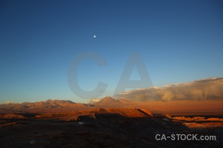 Cloud san pedro de atacama sky valley of the moon landscape.