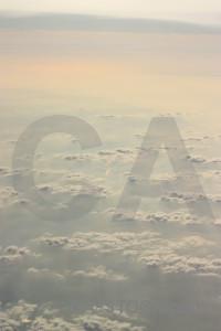 Cloud sky above.