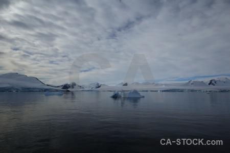 Cloud sky antarctic peninsula bellingshausen sea antarctica.